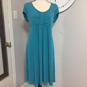 👗 Flattering Teal Slip-on Dress Women's XL